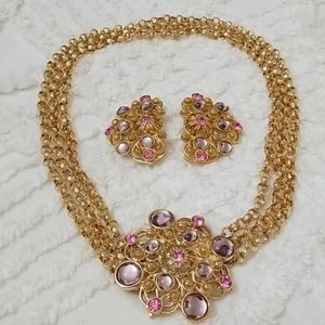Vntg: 80/90's Barrera Necklace Set